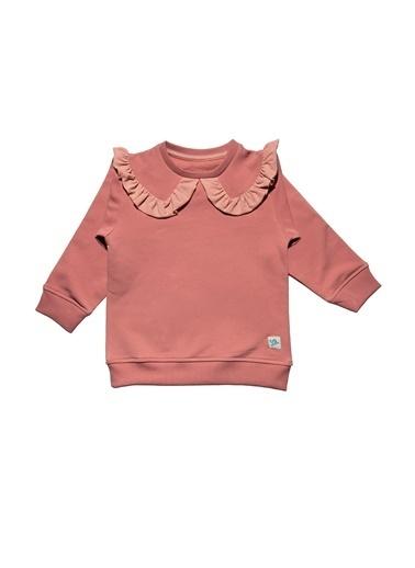 Nila Kids Pembe Rengi Yakalı Kız Bebek Organik Sweat NK08016P (6 AY- 5 YAş) Pembe